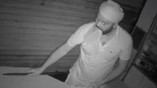 Thief Caught Robbing a Shop at Midnight in India | CCTV Footage